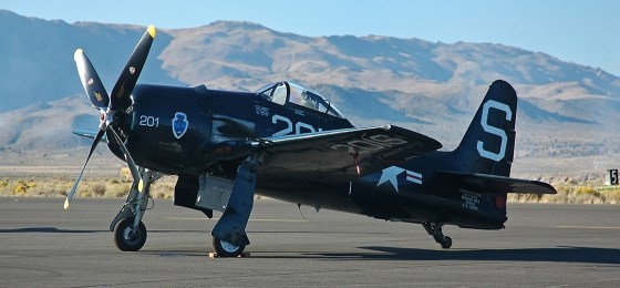 The Grumman F8F Bearcat eventually saw action in Korea.