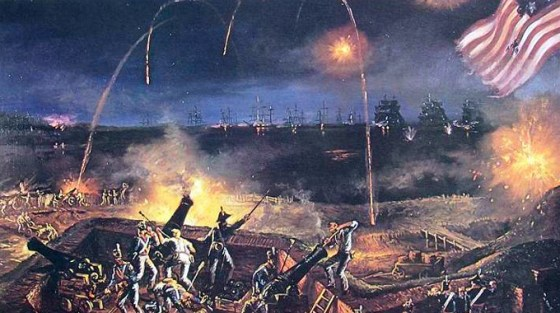The Battle of Fort McHenry, Sept. 13, 1814.