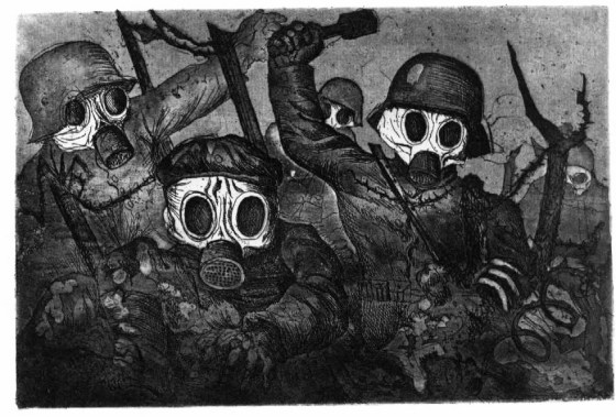 The stormtroopers as an icon for the horror of World War One, as seen through the eyes of Otto Dix.
