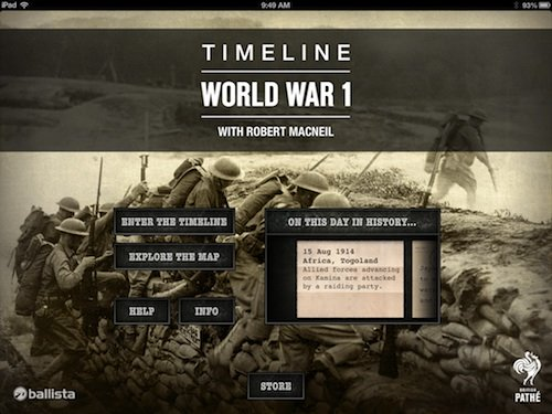 Dan Snow provides the voice over for TimelineWW1.