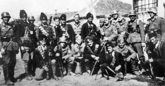Chetniks and their German allies. (Image courtesy WikiCommons)