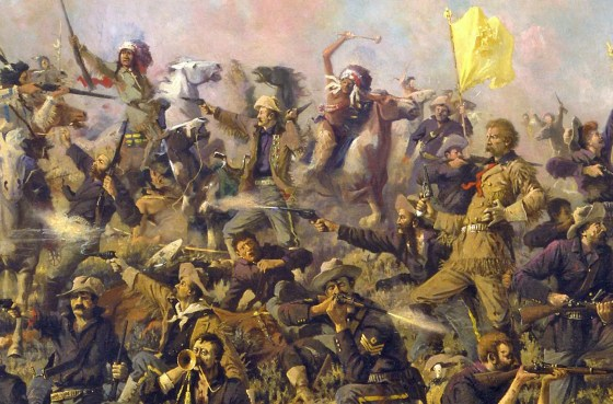 Edgar Samuel Paxson's depiction of the Battle of Little Bighorn was an ornate if not romanticized depiction off Custer's Last Stand. A number of Sioux eyewitnesses provided much more stark perspectives on the celebrated clash of arms.