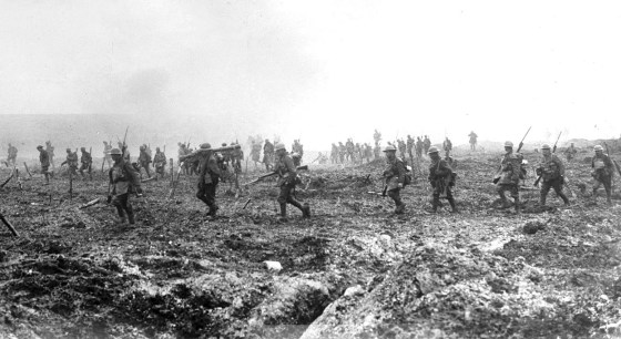 Allied troops assault across No Man's Land. (Image source: WikiCommons)