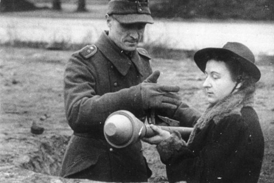 The Panzerfaust was simple enough for civilians to use.