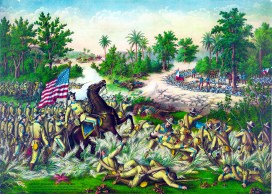 The Battle of Quingua during the Spanish American War.
