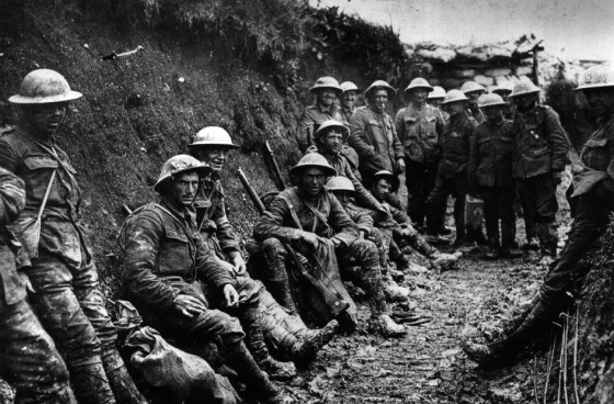 The Royal Irish Rifles on the Western Front, 1916. While much has been written about shell shock victims within the British military during World War One, other armies  struggled to cope with the disorder. By 1916, as many as 40 percent of all battlefield casualties were shell shock-related. Image courtesy Imperial War Museum via WikiCommons (public domain).