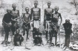 Emaciated survivors of the Vernichtungskrieg.