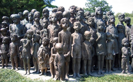 A memorial to the victims of the Lidice massacre.