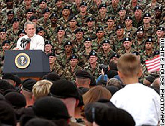 Many of the soldiers in this photo were added digitally.