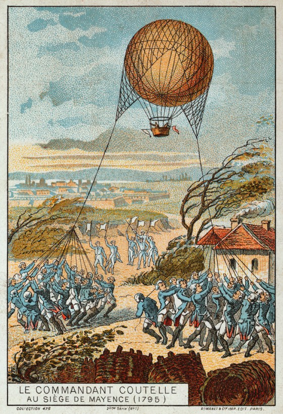 France's Aerostat Corps of the 1790s was history's first 'air force'.