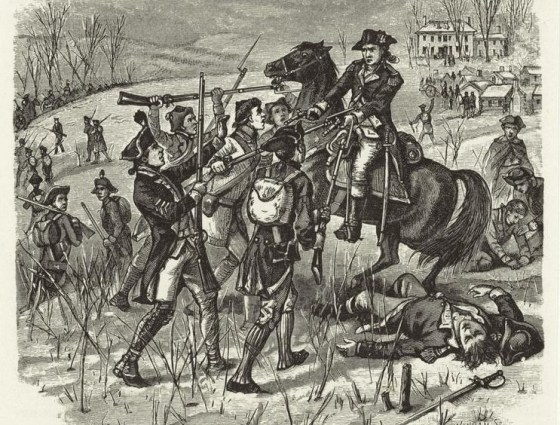 Soldiers from Pennsylvania mutiny over lack of pay, 1781.