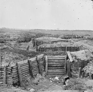 No Man's Land in Virginia? Confederate defences at Petersburg resembled the trenches and dugouts of the Western Front in World War One.