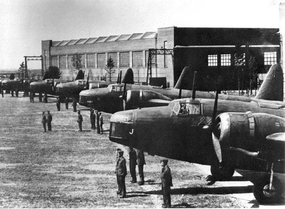 Within hours of Britain's declaration of war on Germany in 1939, RAF bombers like these Vickers Wellingtons were striking targets within the Third Reich.