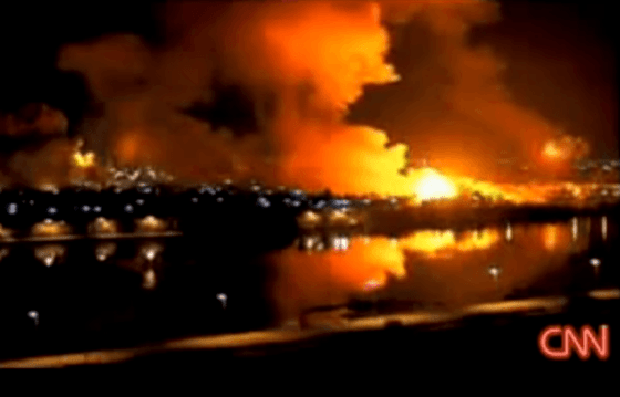 Tomahawks slam into Baghdad during the 2003 U.S. invasion of Iraq.