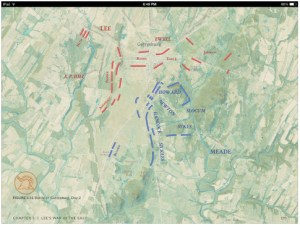 One of the many colour battle maps in The West Point History of the Civil War