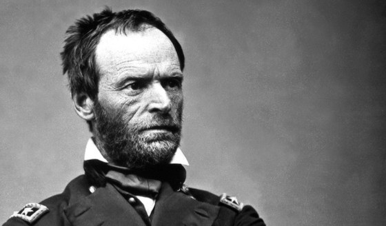 William Tecumseh Sherman gave up his command in 1861 after a crippling bout of depression. (Image source: WikiCommons)