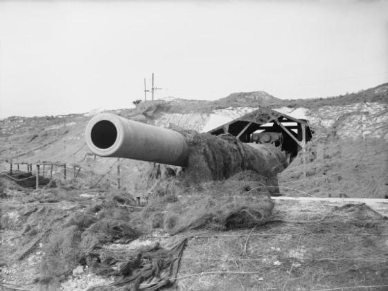"""Winnie"" was a 14-inch British gun position near Dover in 1941. (Image source: WikiCommons)"