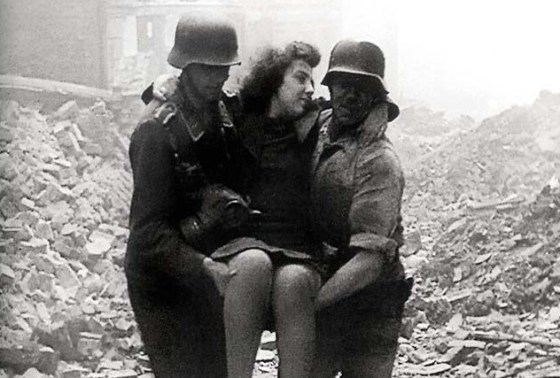 War ravaged Berlin was the setting for the unfinished Nazi epic Life Goes On.