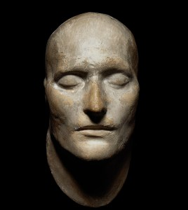 A mask of Napoleon cast shortly after his death. While the likeness offers a glimpse of Bonaparte's appearance, it fails to capture what the French emperor looked like in his prime.
