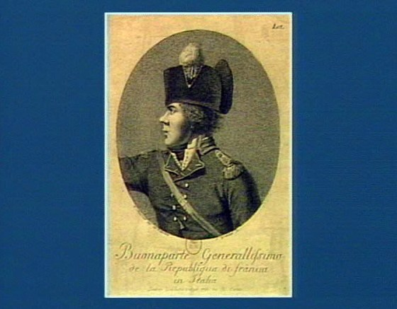 Buonaparte generalissimo de la Republiqua di Franci in Italia, September 1, 1796, by I. Marcelli (engraver S. Grobileti). Bibliothèque nationale de France.