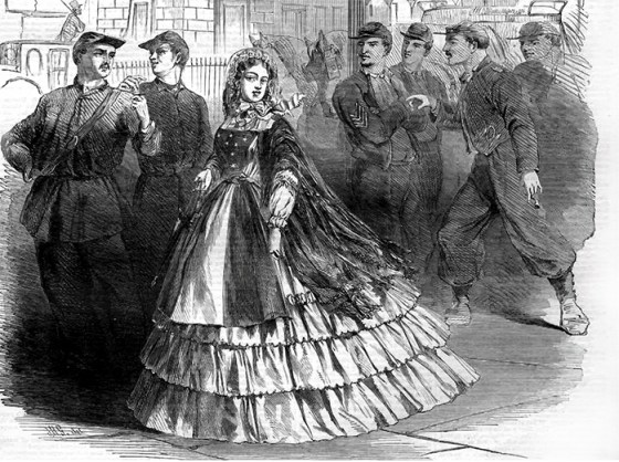 Southern Belles had nothing but hatred for the Yankees that occupied their cities. (Image Source: WikiCommons)