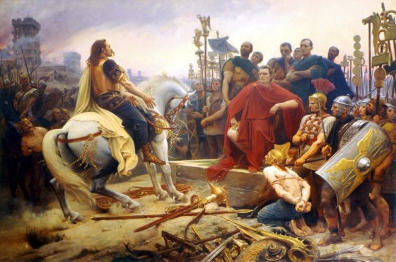 Vercingetorix surrenders to Julius Caesar. (Image source: WikiCommons)