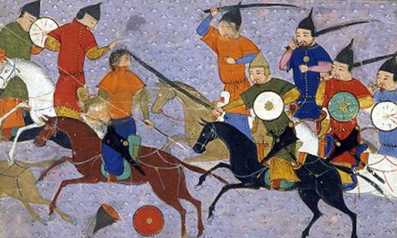 Genghis Kahn's chose the best Mongols to act as his personal guard. (image source: WikiCommons)
