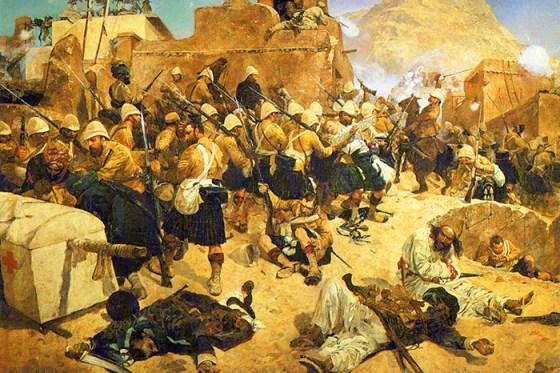 The 92nd Highlanders at Kandahar. (Image source: WikiCommons)