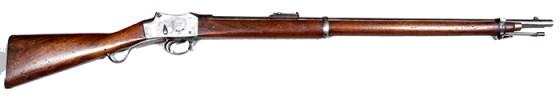 A Martini-Henry Rifle.