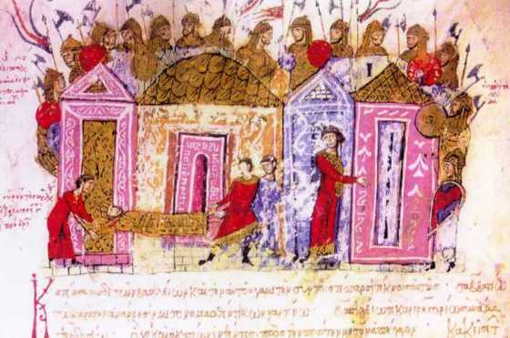 The Byzantine Emperor heard a lot about Viking ferocity, so he hired a bunch for himself. (Image source WikiCommons)