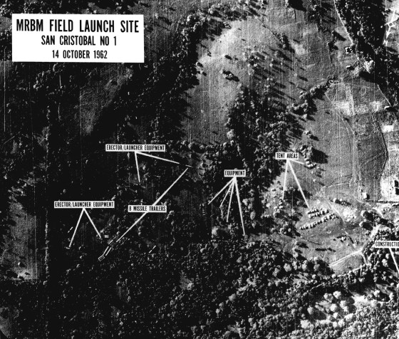 A U.S. intelligence photo of Soviet missile sites in Cuba. (Image source: WikiCommons)