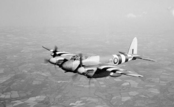 "A De Havilland Mosquito ""Tsetse"". (Image source: WikiCommons)"