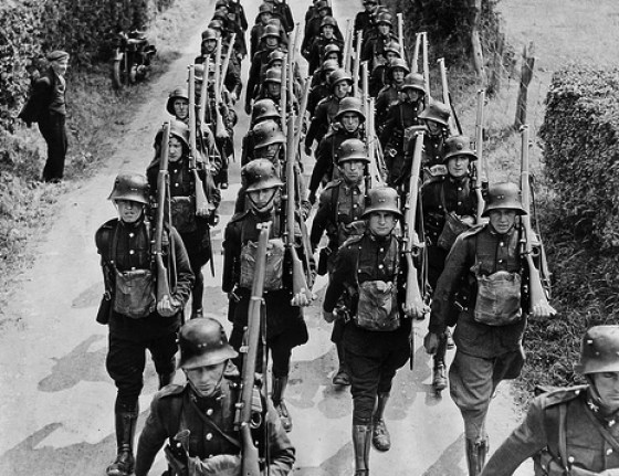 Prior to World War Two, the Irish Army equipped its soldiers with German style helmets. With the possibility of a Nazi invasion booming increasingly likely, Dublin ordered British Brodie helmets to avoid confusion.