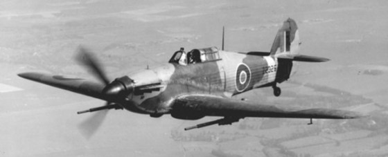"A Hurricane IID ""Can Opener"" came equipped with 40 mm ""pom pom"" guns."