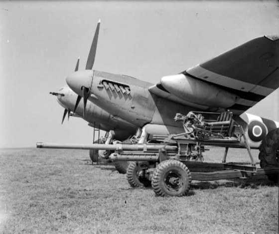 This 57 mm anti-tank gun was standard on the Mosquito Mk. XVIII. (Image source: WikiCommons)