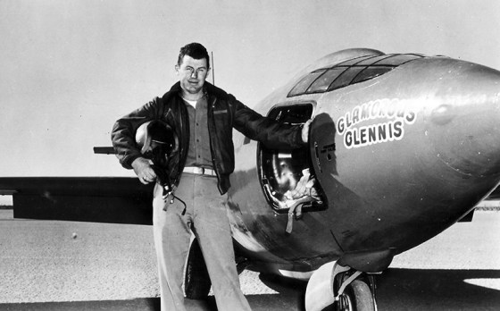 Chuck Yeager and the Bell X-1. (Image source: Smithsonian Air and Space Museum)