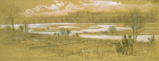 Yankee scouts survey Skinker's Neck, Virginia, December, 1862.