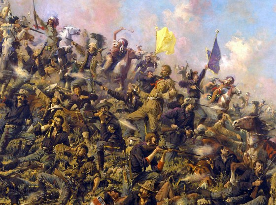 The final moments of Custer's 7th Cavalry at Little Bighorn. Painting by Edgar Samuel Paxson (Image source: WikiCommons)