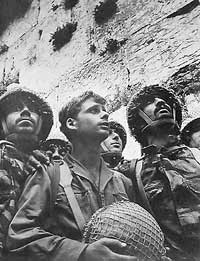 Israeli soldiers at the Western Wall.