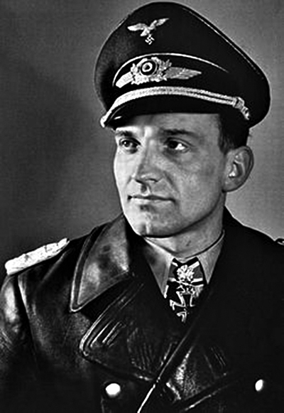Stuka ace Hans Ulrich Rudel. (Image source: WikiCommons)