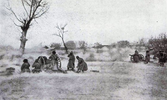 Russian artillery in action at Mukden, 1905. (Image source: WikiCommons)
