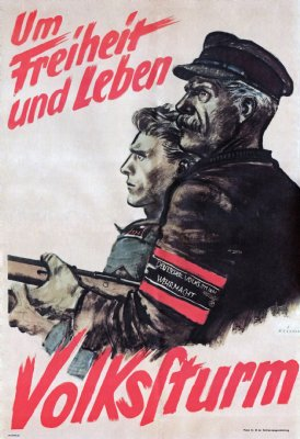 A poster for the Volksturm.
