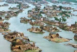 Saddam's 1993 war on the Marsh Arabs saw the Iraqi dictator divert the Tigris and Euphrates to drain the group's wetland homeland. (Image source: WikiCommons)