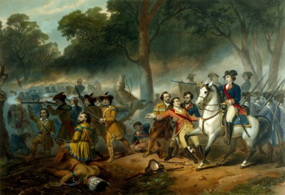A young George Washington often wrote to the very married Sally Fairfax while fighting in the French Indian War. (Image source: MountVernon.org)
