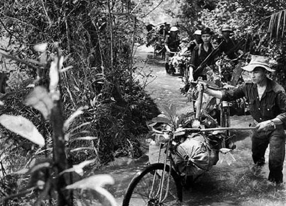 History remembers the Ho Chi Minh Trail as a primitive series of dirt paths winding from North Vietnam into South Vietnam. It was actually a complex logistical network consisting of paved roads, C&C outposts and even a pipeline system. (Image source: WikiCommons)