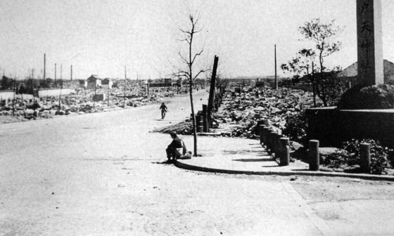 Where the streets have no name -- Tokyo in the summer of 1945.