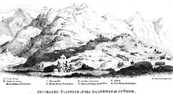 Lay of the Land -- a contemporary sketch of the terrain in Nepal. (Image source: WikiCommons)