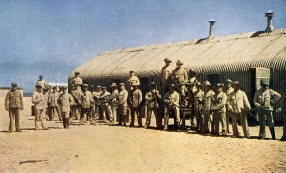 A colourized photo of the pre-WW1 Schutztruppe of German South-West Africa. Thord-Grey briefly served with the outfit. (Image source: WikiCommons)
