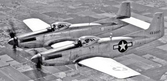 The P-82/F-82 was the USAF's principle fighter of the early Post-War period. (Image source: WikiCommons)