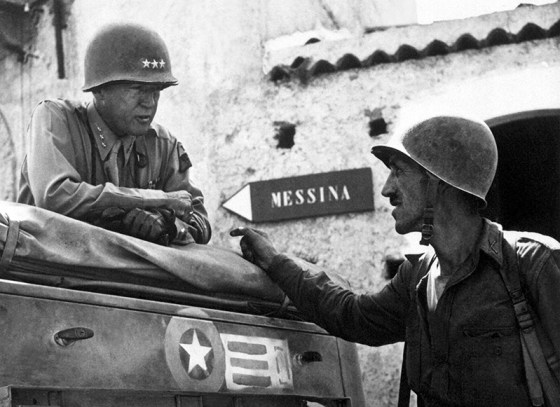 Patton in Sicily. (Image source: WikiCommons)